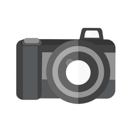 Cartoon vector illustration isolated object electronic camera
