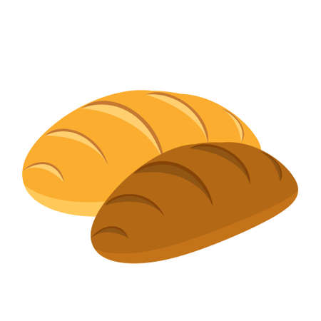 Cartoon vector illustration isolated object delicious food bread