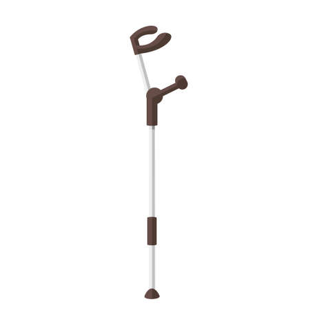 Cartoon vector illustration isolated object crutch cane walking stick