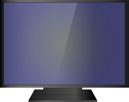 lcd: vector lcd TV icon