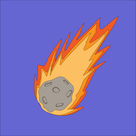 vector illustration of a meteor