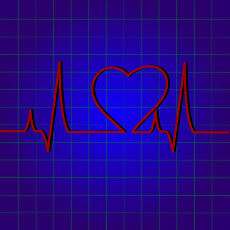 Vector background heart pulse