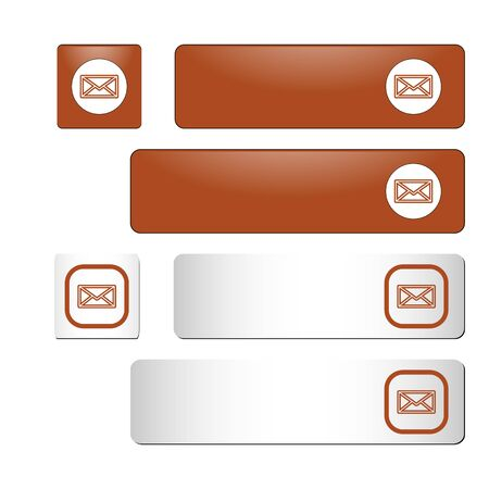 vector download: Set of vector download buttons. Rectangular and square. Suitable for web sites, mobile and desktop applications. Color: orange.