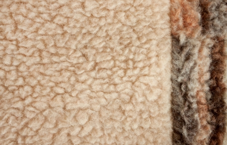 Fluffy fleece background with brown side photo