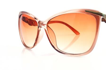 lady s: Lady s elegantes gafas de cerca Foto de archivo