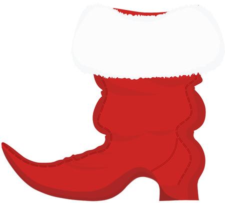 puntig: Kerstman Puntige Boot, geïsoleerd op de witte achtergrond