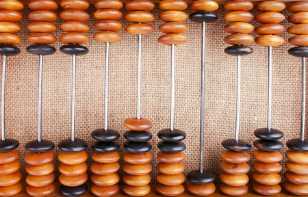 The Abacus on Burlap Making Counting Background
