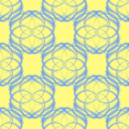 prickles: Seamless Vector Background con Blue Icicle come modello su sfondo giallo