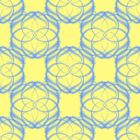 icicle: Seamless Vector Background with Blue Icicle Like Pattern on Yellow Background