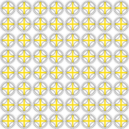 usage: Abstract Geometric Seamless Background with Coins. Ideal for Web Usage, Textile and Paper Printing
