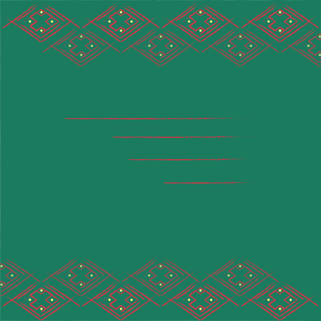 dark green background: Dark Green Background with Geometric Frame on the Top and on the Bottom Illustration