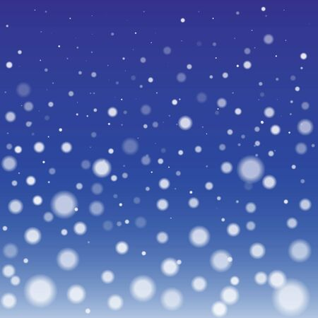 natural phenomenon: Winter Snowfall Background with Round Fluffy Snowflakes