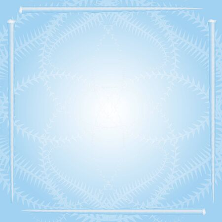 natural phenomenon: Winter Holiday Pattern with Icicle Frame on the Light Blue Background