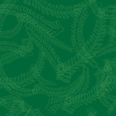 tints: Seamless Fern Leaves Pattern made in Green Color Tints