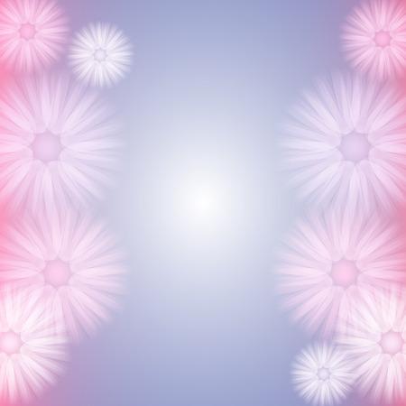 Feminine Background with Abstract  Tutu Like Flowers in Pastel Colors Illusztráció
