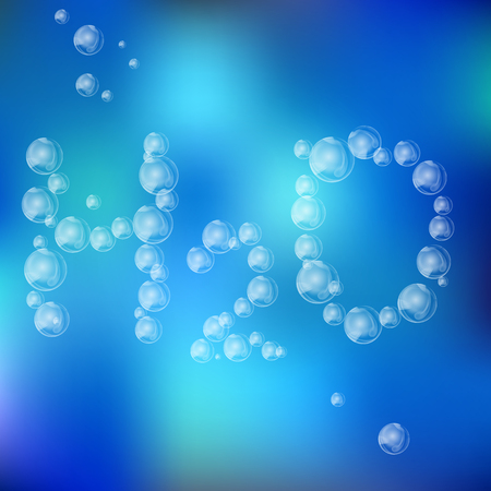 air bubbles: Water Formula made With Air Bubbles on the Blue Uneven Background Illustration