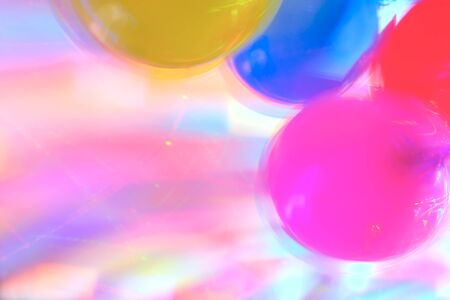 highlights: Background with Blurred Disco Highlights and Air Baloons