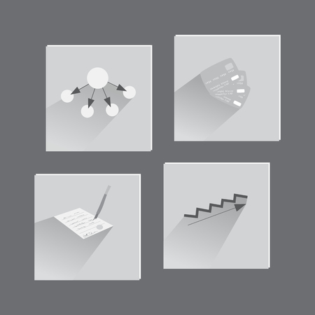 signing papers: Business Icons in Flat Style. Suit for Web and Mobile Apps.