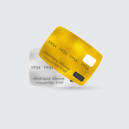 debit cards: Platinum and Golden Bank Debit or Credit Cards for VIP Clients. Illustration