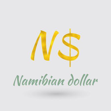 Symbol Des Neuen Taiwan Dollar Whrungs Mit Goldenen Textur Text
