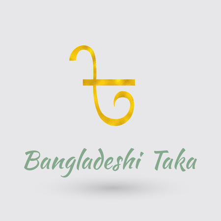 golden texture: Symbol of the Bangladesh Currency with Golden Texture.