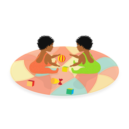 polkadot: Little African Baby Twins