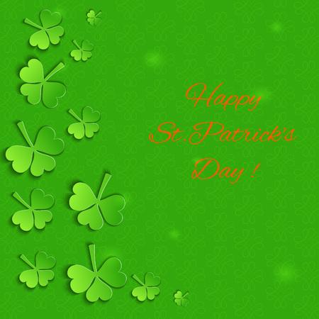 Paper Shamrock Leaves and Celtic Symbols.  Template for St.Patricks Day.