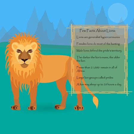 royal safari: African Lion Illustration