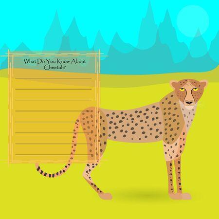 African Cheetah Illustration