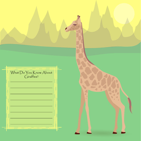 A Giraffe in the Wild Ilustração