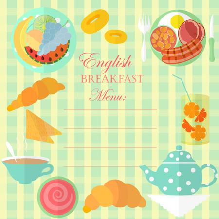 English Breakfast Leaf Illustration