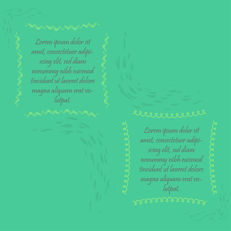 Two Abstract Frames with Sample Text