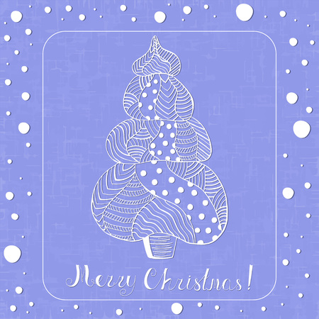 Ornated White Christmas Spruce Tree with Lettering