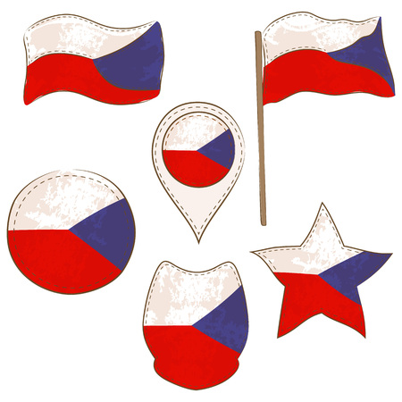 Flag of the Czech Republic Made in Various Shapes