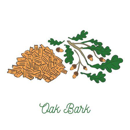 Painted Hand Drawn Heap of Oak Bar
