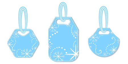 Set of Tags Decorated with Snowflakes and Chaplets