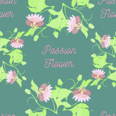 Seamless Pattern with Different Parts of Lavender