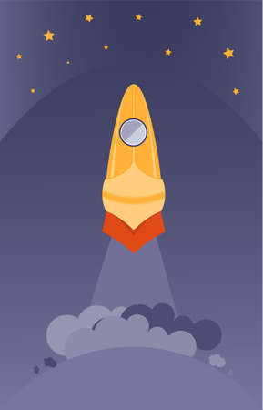 Start Up Concept Looks Like Space Rocket Launch
