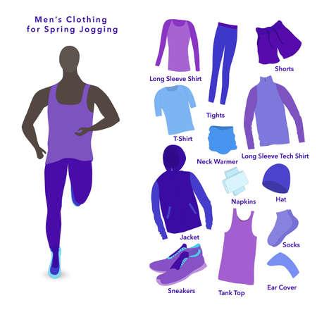 Set of Clothes for a Spring Jogging for men.