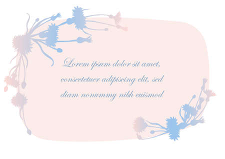 Banner with Floral Silhouette from Cornflower Parts