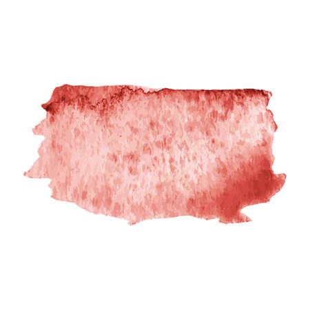Single watercolor brush stroke on the white Illusztráció