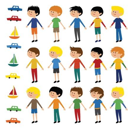car clothes: Collection of Vector Boys