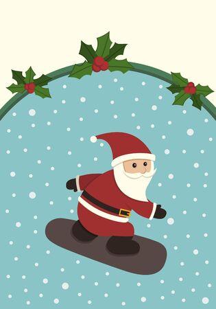 Snowboarding Santa Claus Stock Vector - 10662549