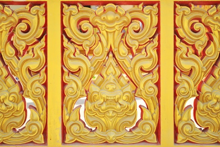 Thai old pattern in the thailand temple Stock Photo - 8562329