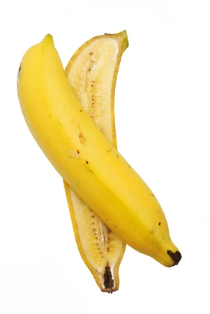The banana is on the white background Stock Photo - 8618353