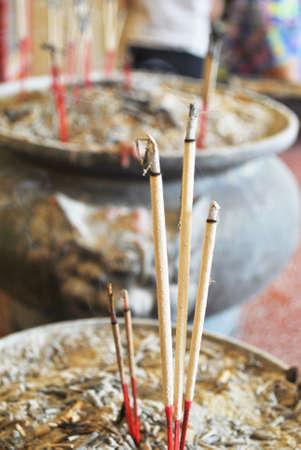 The joss stick that stick in incense burner