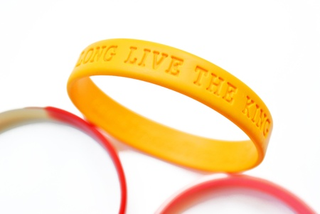 The wristband are on the white background photo