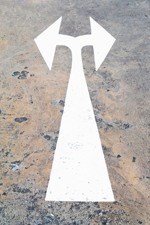 The two direction of way that on the road photo