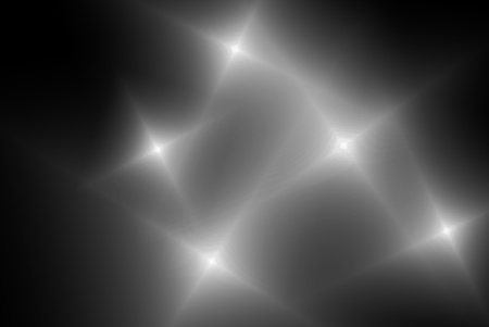 lake district: The star is on the black background Stock Photo
