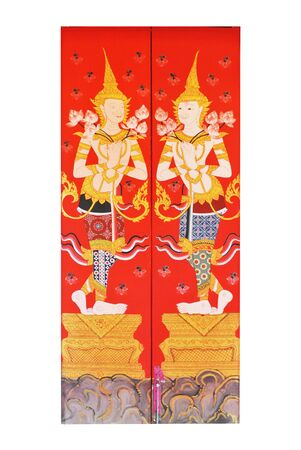 The thai design is on the white background photo